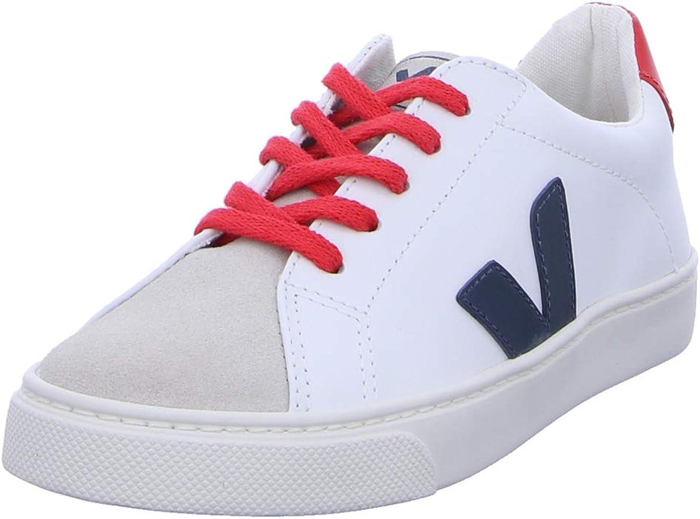 Veja Esplare Lace Blanco Extra/Nautico/Pekin Cuero Jóvenes Entrenadores Zapatos