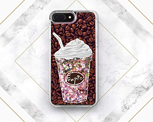 Ice-Coffee Summer Design Liquid Glitter Case Cover Back For Phone Samsung Galaxy S6 S7 S8 S9 Plus For Apple iPhone 5 5s SE 5c 6 6s 7 8 Plus X 10 6plus 6splus 7plus 8plus