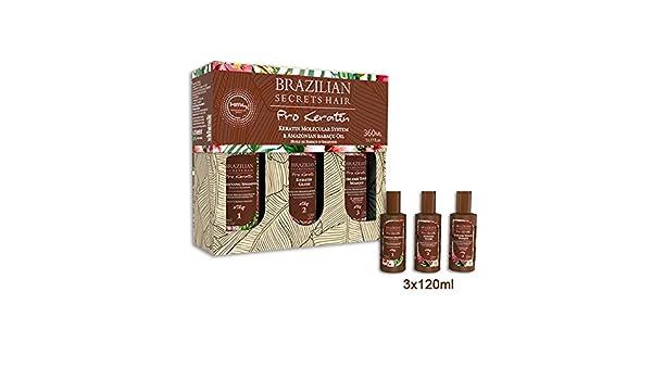 Brazilian Secrets Hair Pro - Kit de alisado brasileño, con queratina, de 360 ml: Amazon.es: Belleza