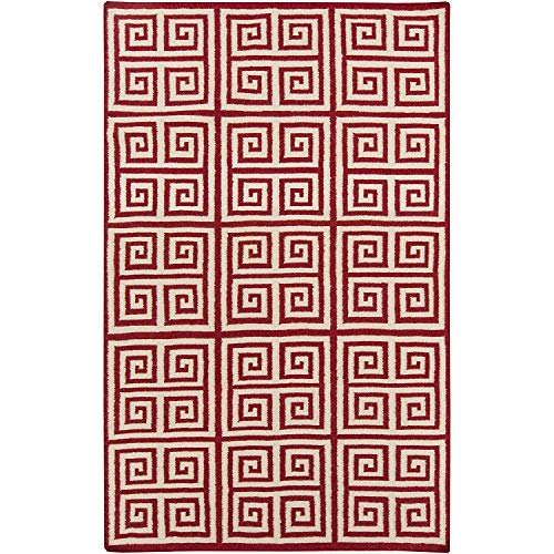 Venetian Red Wool - Frontier FT-418 Flatweave Hand Woven 100% Wool Venetian Red 2' x 3' Global Accent Rug, Home Decor Area Rugs Runner for Living Room Dining Room Bedroom