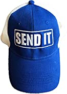 Send it stuff - Royal Blue Trucker Baseball Hat- One Size Fits All- Just Gonna Send it, Funny Gift, Sticker