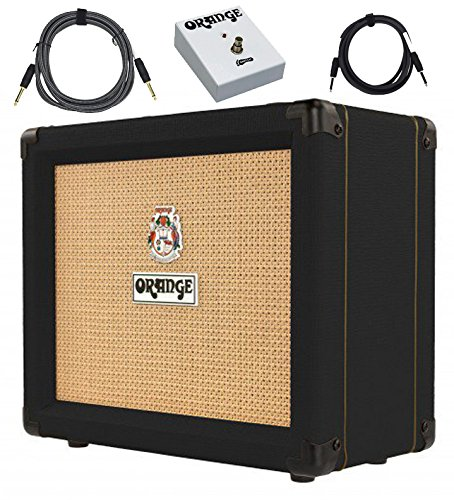 Orange Crush 20RT Amp Black 20w Combo w/ Reverb & Tuner Footswitch Cables Bundle by Orange