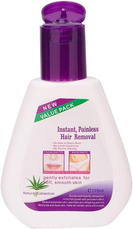 Removedor de cabello, gel sensible a la crema para la depilación, fórmula sensible de 125 g con aloe: Amazon.es: Belleza