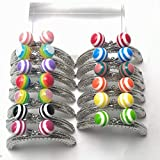Purse Frame Candy Beads Head Coin Purse Metal Frames Sewing DIY Silver 13 PCS/Lot 8.5CM