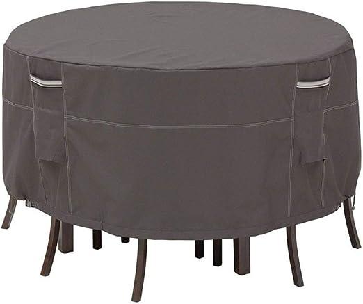 ZWJ-Muebles Jardín Cubierta Fundas para Muebles De Jardín Redondo Cubierta De Mesa Servicio Pesado Impermeable Funda De Protección (Size : 239 x 58cm): Amazon.es: Hogar