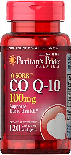 Puritan's Pride Q-Sorb Co Q-10 100 mg-120 Rapid Release Softgels (10 Puritan Q Co)