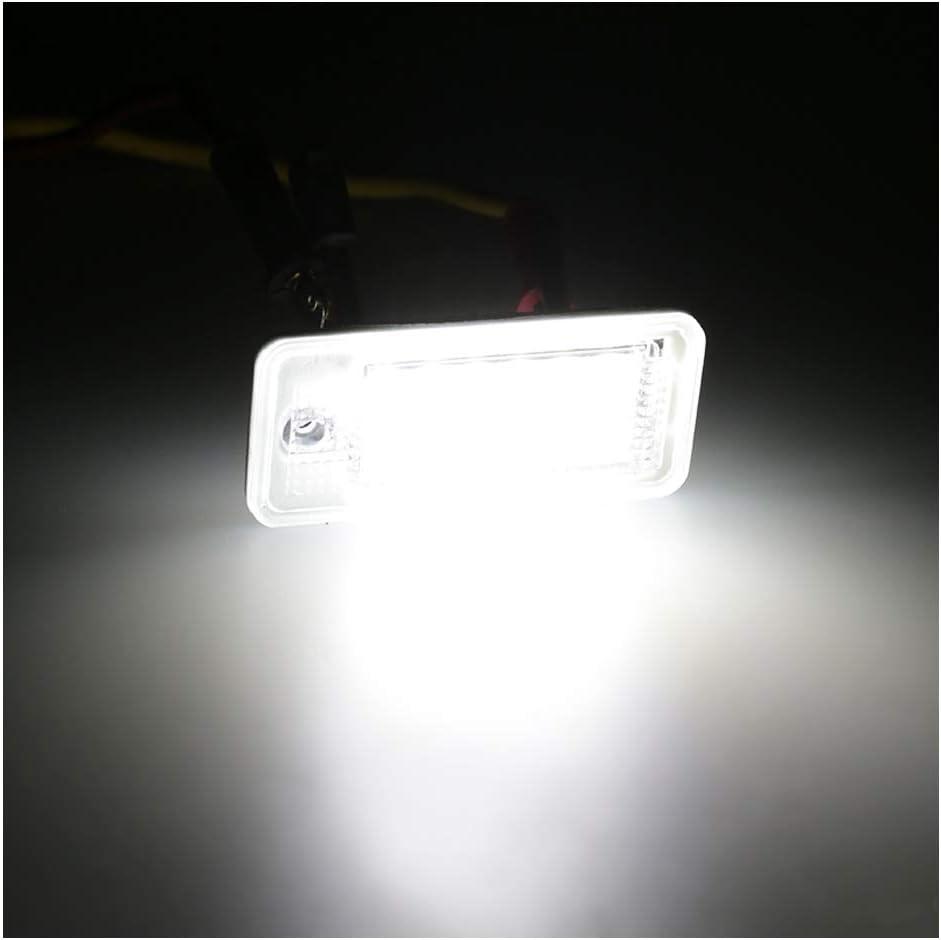 2 Pcs Blanc 6000k 3 W 18 SMD LED Ampoule Plaque Dimmatriculation pour Au//di A4 A6 C6 A3 B6 B7 S6 A8 Q7 LUOAN AUTO PARTS Voiture LED Num/éro Plaque Dimmatriculation Lumi/ère 1 Paire