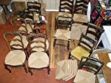 10 Pound Reel of Fibre Rush Size 7/32 Enough for 4 Seats, Kraft Brown Fiber Rush Ladderback Chairs Seating Material (7/32) (7/32)