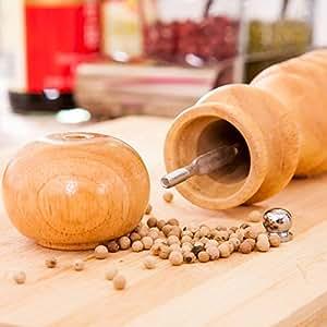 Saver 4 Inch Vintage Wood Manual Pepper Salt Spice Mill Grinder Kitchen Mill Muller