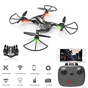 Physport Foldable Drones with HD Camera Remote Control Quadcopter Live Video Wifi FPV APP Optical Flow Positioning Mode RC Toys by JUMPING