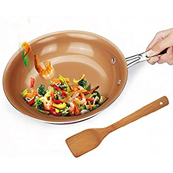Amazon Com Yzakka Copper Pan Ceramic Round Nonstick