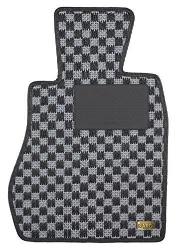 KARO(カロ) フロアマット SISAL シルバー/ブラック PORSCHE(ポルシェ) ボクスター 3283(一台分) B00NUZROBK SISAL×シルバー/ブラック SISAL×シルバー/ブラック