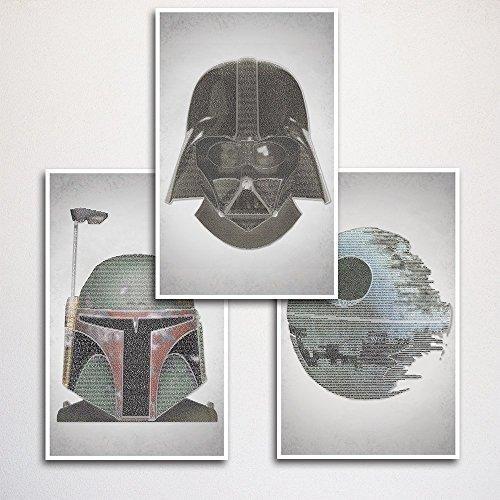 (Star Wars Word Art Print Three Set 11x17
