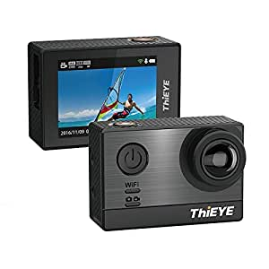 ThiEYE Original T5e Wifi Sport Camera,16MP Ultra 4K HD Sony Sensor Ambarella Chipset Action Video Cam compatible with External Mic,197FT Waterproof,170 Wide Angle,App Control for Diving