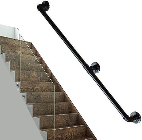 Baranda escalera para soporte paredes | Kit barandas cubierta para interior y exterior | Conjuntos soporte riel barandilla barandilla escalera | Diseño tubería agua industrial hierro forjado metal,: Amazon.es: Deportes y aire libre