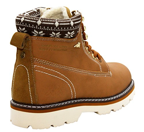 A&H Footwear Botas de Material Sintético Para Mujer canela