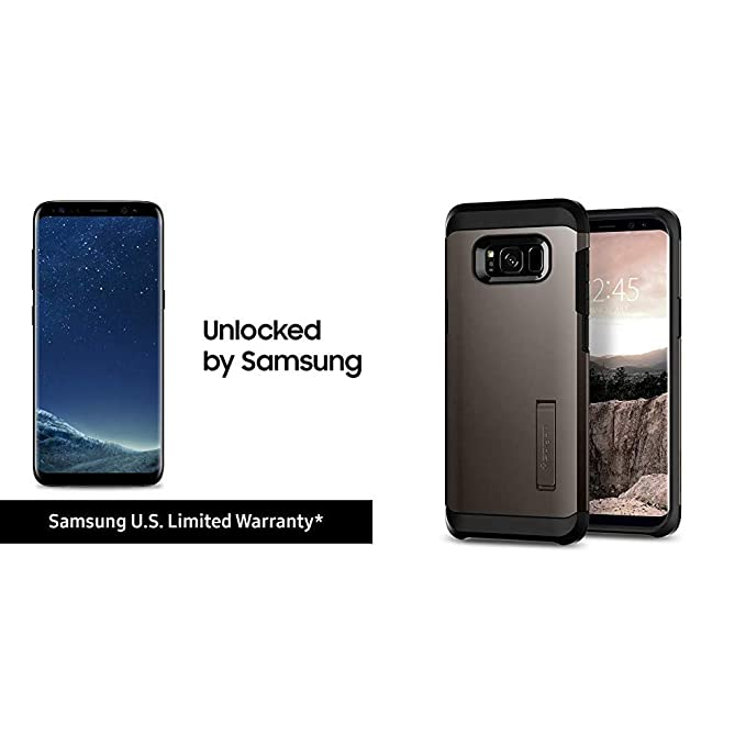 Samsung Galaxy S8 64GB Factory Unlocked Smartphone - US Version (Midnight  Black) - US Warranty - [SM-G950UZKAXAA] Bundle with Spigen Tough Armor