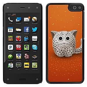 LECELL--Funda protectora / Cubierta / Piel For Amazon Fire Phone -- Gato lindo de la nieve --
