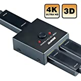 HDMI Switcher, Benfei 2 Ports Bi-direction Manual HDMI Switch 2 x 1/1 x 2 HDMI Hub-HDCP Passthrough-Supports Ultra HD 4K 3D 1080P