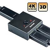 HDMI Switcher, Benfei 2 Ports Bi-Direction Manual HDMI Switch 2 x 1/1 x 2 HDMI Hub-HDCP Passthrough-Supports Ultra HD 4K 3D 1080P