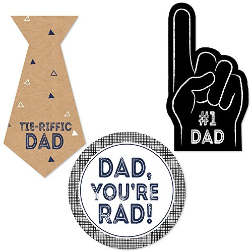 Big Dot of Happiness My Dad is Rad - Father's Day DIY Shaped Party Cut-Outs - 24 Count -