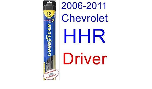 2006 - 2011 Chevrolet HHR hoja de limpiaparabrisas de repuesto Set/Kit (Goodyear limpiaparabrisas blades-hybrid) (2007,2008,2009,2010): Amazon.es: Coche y ...