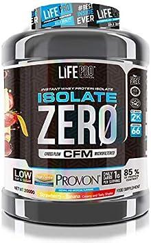 Life Pro Isolate Zero 2Kg | Suplemento Deportivo de Aislado de Proteína de Suero 87%, Mejora Rendimiento Físico y Recuperación, Sabor Strawberry ...