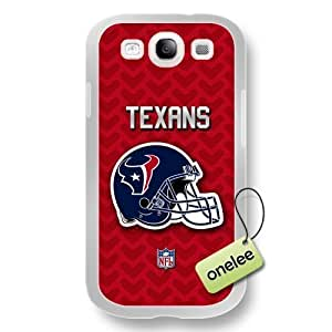 NFL Houston Texans Team Logo For SamSung Galaxy S4 Case Cover White PC(Hard) SoftWhite