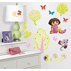 Lovely RoomMates Repositionable Childrens Wall Stickers   Dora The Explorer Part 3