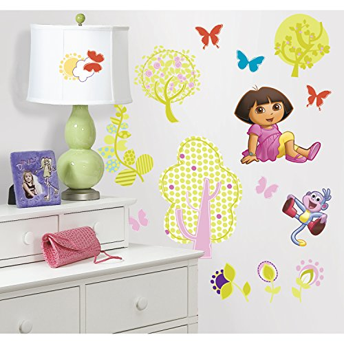 RoomMates RMK1378SCS Dora the Explorer Peel & Stick Wall Decals (Dora Wall Decorations)