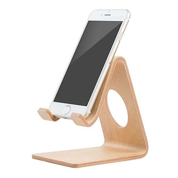 Portable Desk Cell Phone Wood Stand Holder Dock For Smartphone For Iphone Mini Mobile Phone Holders & Stands
