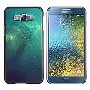 LECELL--Funda protectora / Cubierta / Piel For Samsung Galaxy E7 E700 -- Azul Espacio Galaxy --
