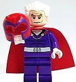 LEGO Marvel Super Heroes X-Men Minifigure - Magneto Dark Purple with Helmet and Hair (76022)