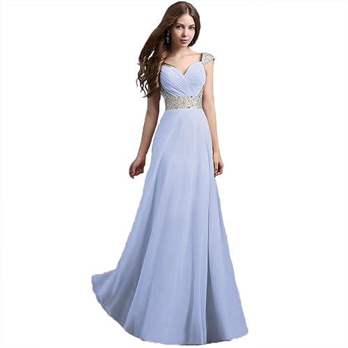 Bellace Women's Chiffon Fairy Floor Length Cocktail Party Dress