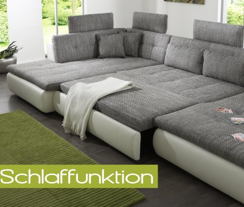 wohnlandschaft sofa free mit schlaffunktion und 4x. Black Bedroom Furniture Sets. Home Design Ideas