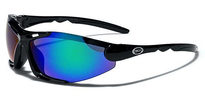 X-Loop Lunettes de Soleil - Sport - Cyclisme - Ski - Vtt - Running - Trail - Moto - Tennis / Mod Blade Noir Fire Iridium Miroir PqXxj