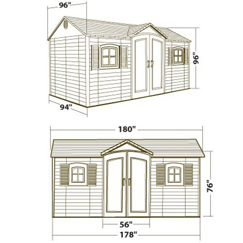 081483001098 - Lifetime 6446 Outdoor Storage Shed with Shutters, Windows, and Skylights, 8 by 15 Feet carousel main 12