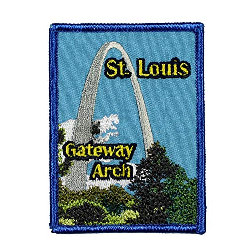 - St. Louis Gateway Arch Patch Travel City Missouri Embroidered Iron On Applique