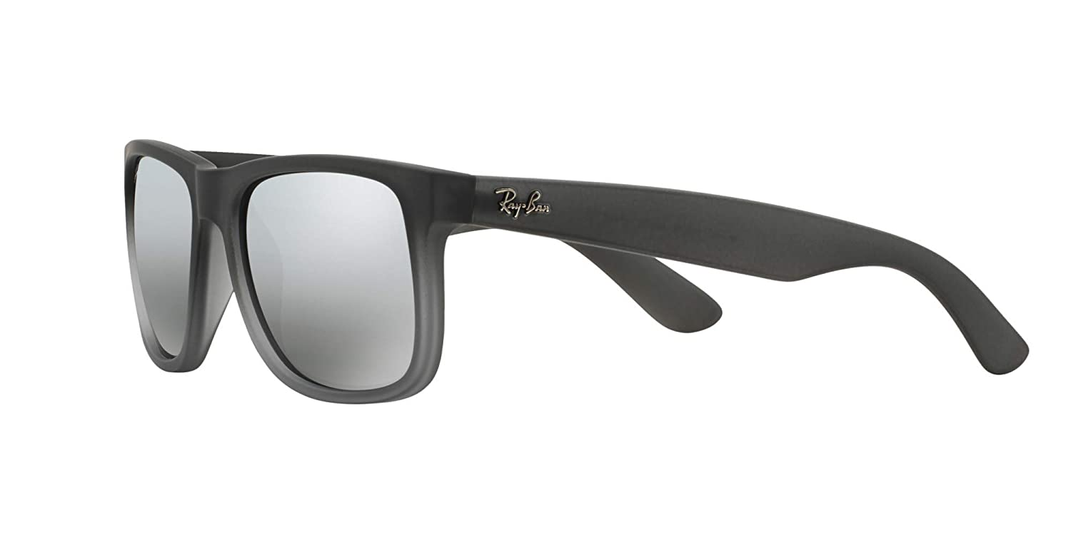 07224029d5 Ray-Ban RB4165 Justin Sunglasses Matte Grey w Silver Mirror (852 88) 4165  85288 55mm Authentic  Amazon.co.uk  Clothing