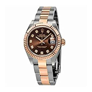 Rolex Lady Datejust 28 Chocolate Diamond Dial Automatic Two-tone Ladies Watch 279171CHDO