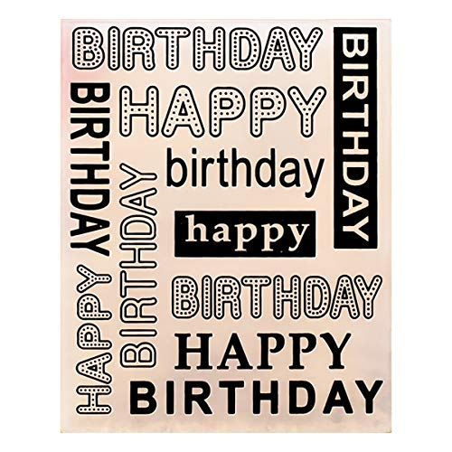 - Kwan Crafts Happy Birthday Plastic Embossing Folders for Card Making Scrapbooking and Other Paper Crafts, 12.1x15.2cm