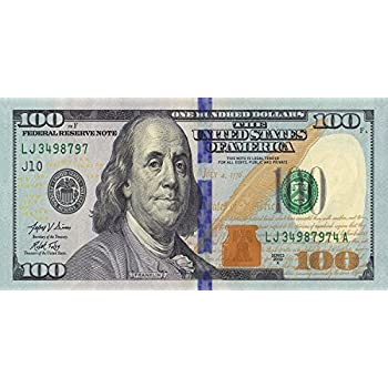 Delicate image intended for printable $100 bill