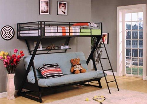 ACME Furniture 37136 Zazie Twin over Full/Futon Bunk Bed ...