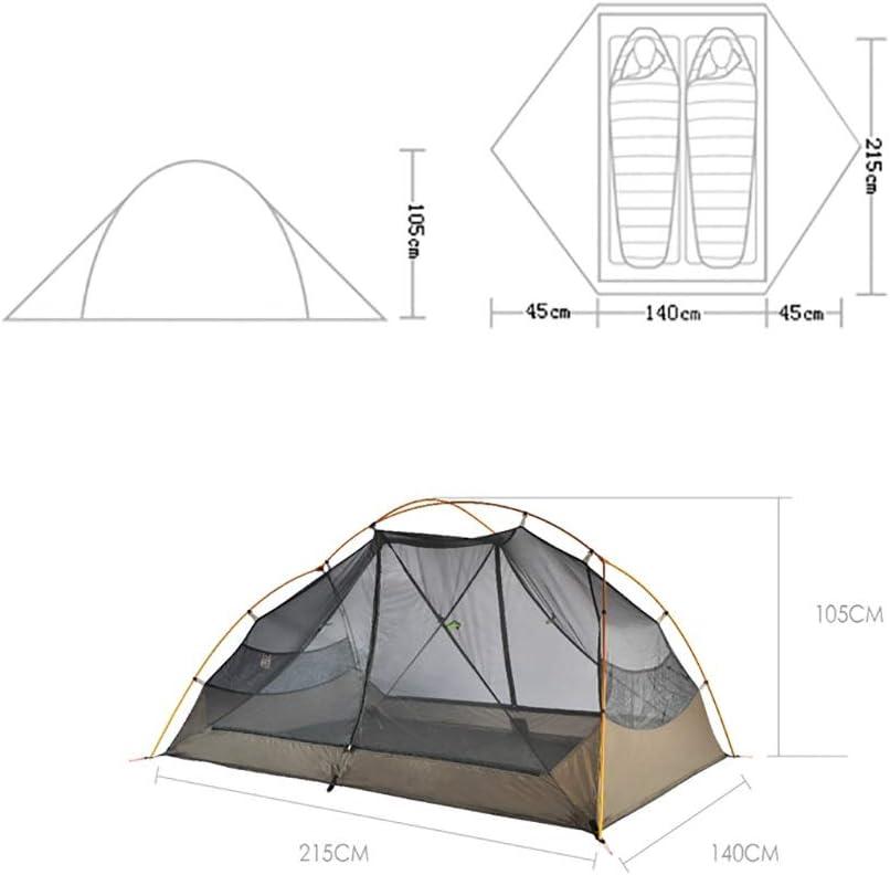 Lian Camping ultraleichtes Zelt wasserdicht und atmungsaktiv Doppelschicht Camping Wanderzelt Wasserdicht und atmungsaktiv Nylon Funktionsgewebe (2 Personen) (Color : A) A