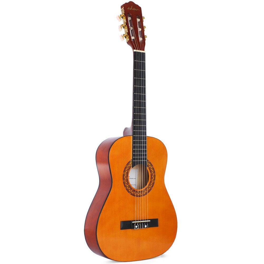 ADM Classical Guitar 1/2 Size 34 inch Nylon String Student Starter Classical Guitar for Beginner Toddler, Sunset JC611-NR