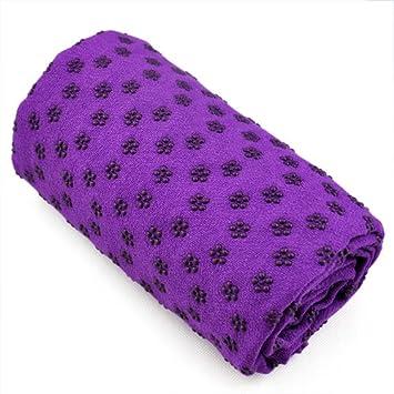 Gleader Toalla Hot Yoga Mat antideslizante Manta Con Los Puntos de placas de silicona y malla Carry Bag (purpura)