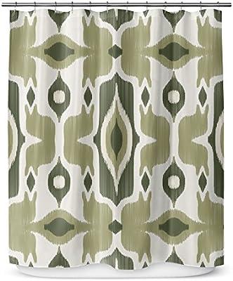 Kavka diseños Cosmos Cortina de Ducha, Verde: Amazon.es: Hogar