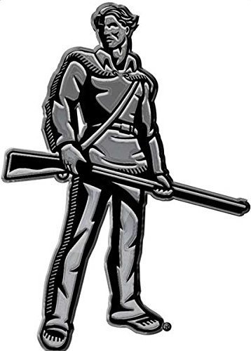 West Virginia University Mountaineer mascot METAL Auto Emblem