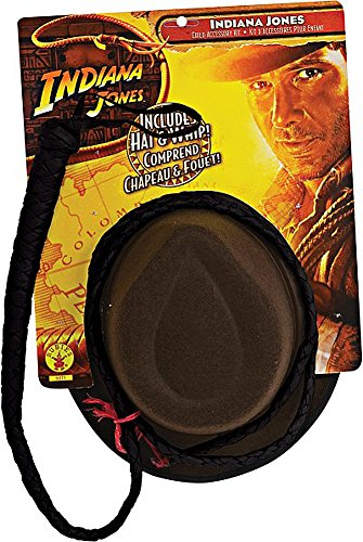 Jones Hat Adult Indiana Whip And (Officially Licensed Indiana Jones Classic Hat & Bullwhip)