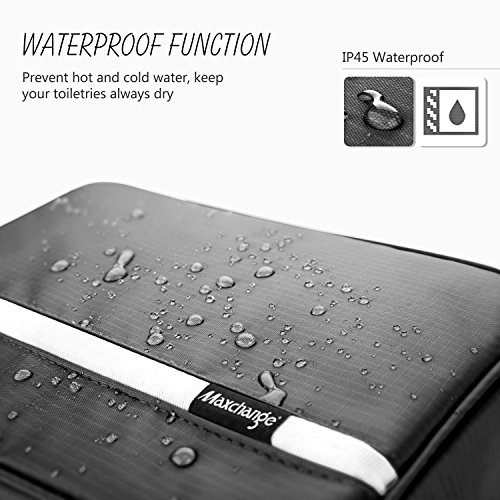 Hanging Toiletry Bag | Compact Travel Toiletry Bag for Men/Women | Foldable Mens Hygiene Bag with 4 Compartments| Waterproof Travel Bathroom Bag.(Black)